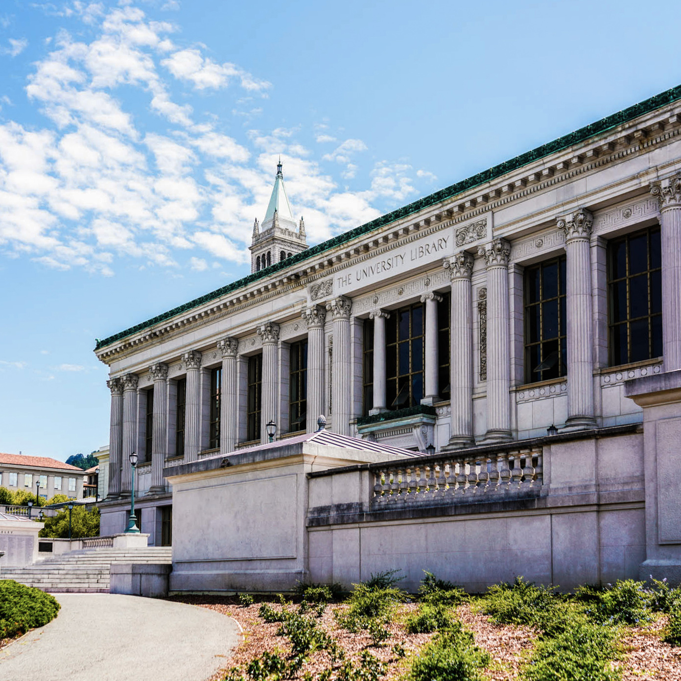 Doe Library and the Campanile on the UC Berkeley campus were photographed on Aug. 9, 2019.