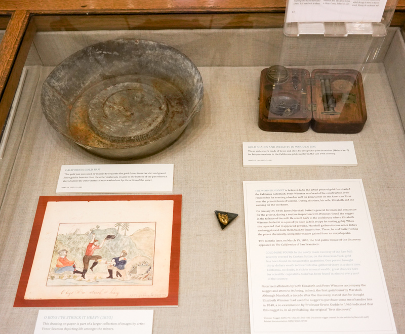 An exhibit on gold-panning in August 2019