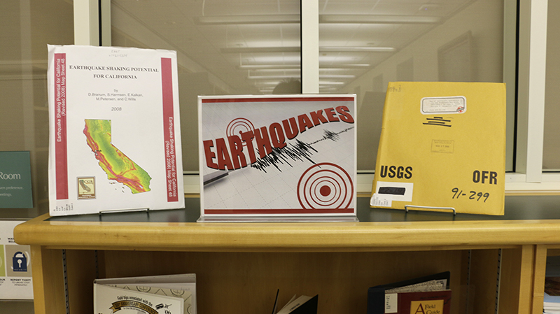 An exhibit on Earthquakes in December 2017