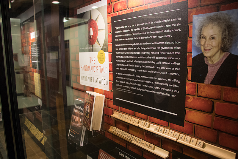 Margaret Atwood's Handmaid's Tale is featured in an exhibit in August 2018.