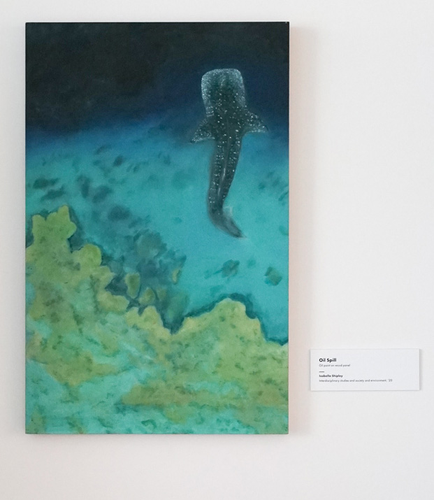 """""""Oil Spill"""" by Isabella Shipley on display in August 2019"""