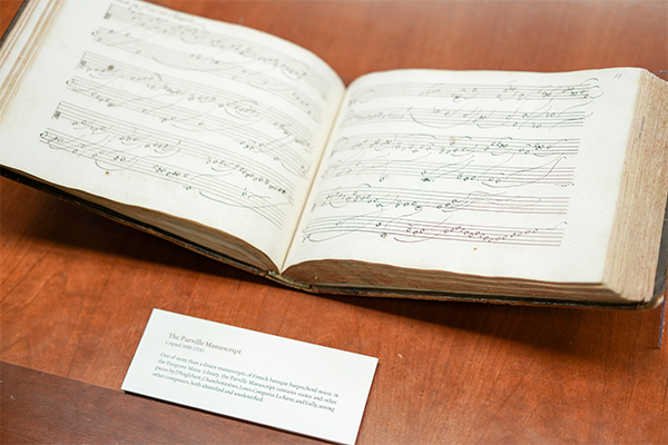 A book from the music library